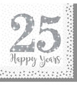 25th Anniversary Luncheon Napkins 16pk