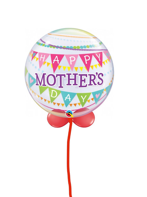 Mother's Day Bubble balloon finished with a balloon collar