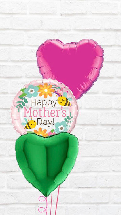 Cluster of 3 Foils Mothers Day Balloon Bouquet