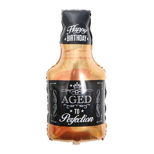 Aged to Perfection Whiskey Bottle Supershape Balloon