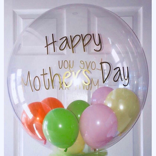 Personalised Mothers Day Bubble Balloon