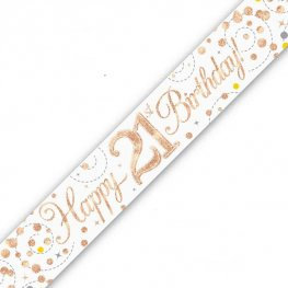 21st Birthday Banners (Available in pink, blue or rose gold)