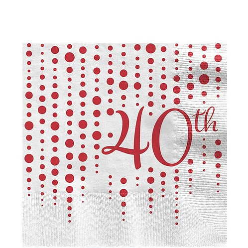 40th Anniversary Luncheon Napkins 16pk