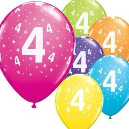Pack of 6 Flat Latex Balloons (Printed  Happy Birthday or Aged 1-100)
