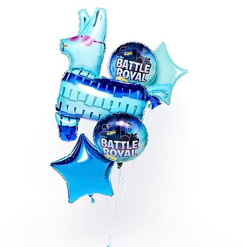 Fortnight Battle Royal All Foil Balloon Bouquet