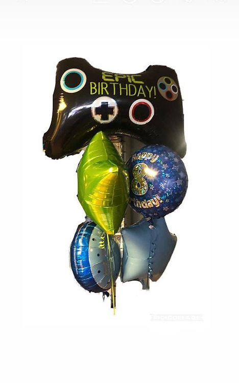 Gaming All Foil Balloon Bouquet
