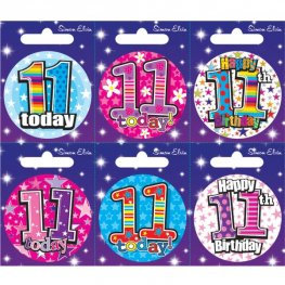 Ages 11-18 Birthday Small Badge