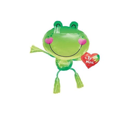 Valentines Supershape Foil Balloon Bouquet - FROG