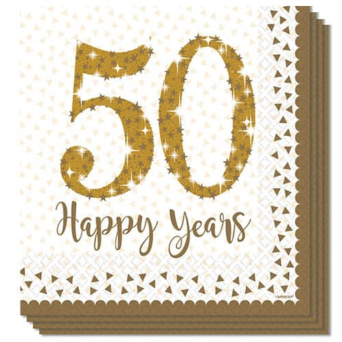 50th Anniversary Luncheon Napkins 16pk