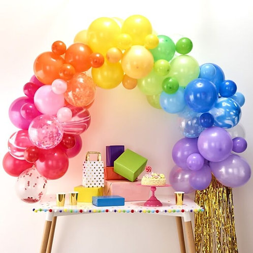 Rainbow DIY or inflated Balloon Garland/Arch Kit