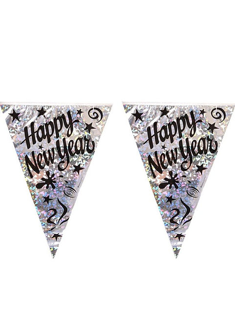 Happy New Year Party Bunting 36m
