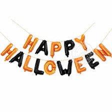 Happy Halloween Balloon Letter Banner
