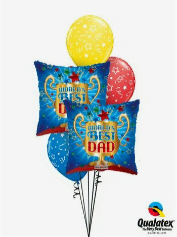 Standard Fathers Day Balloon Bouquet