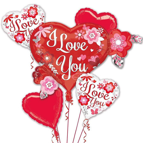 Large Love You Balloon Bouquet