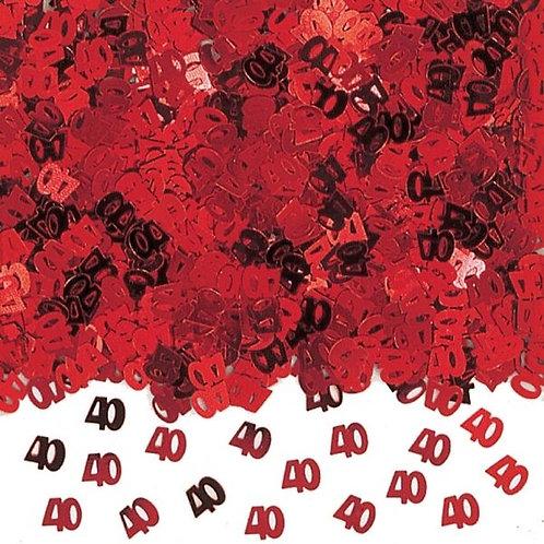 40th Anniversary Table Confetti 14 Gram