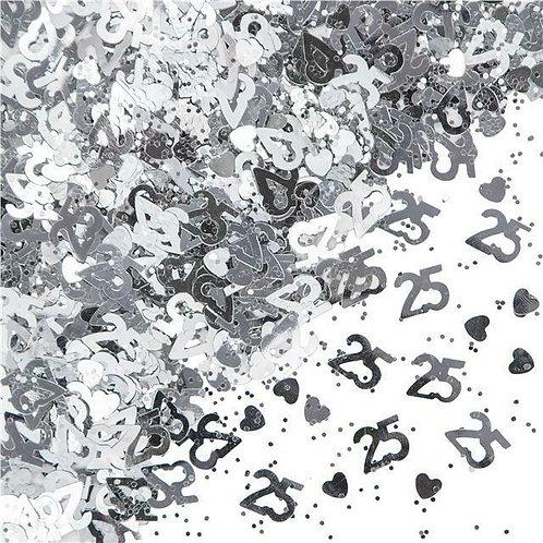 25th Anniversary Table Confetti 14 Gram