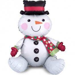 Sitting Christmas Snowman