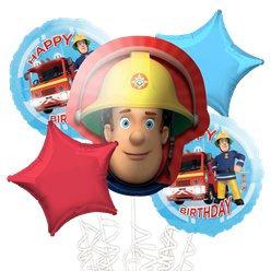 Fireman Sam all foil Balloon Bouquet