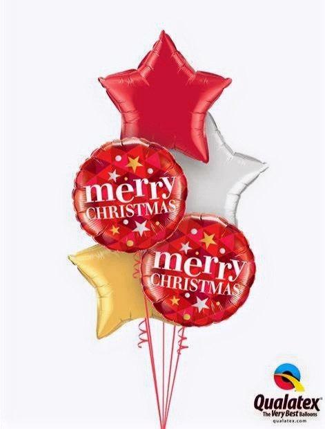 All foil Christmas Themed Balloon Bouquet