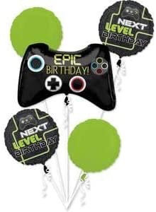 Epic Birthday Gaming Controller All Foil Balloon Bouquet