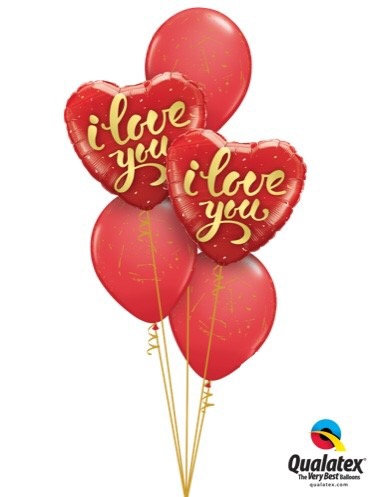 Valentine Classic Balloon Bouquet