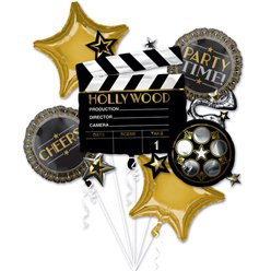 Hollywood Themed all foil Balloon Bouquet