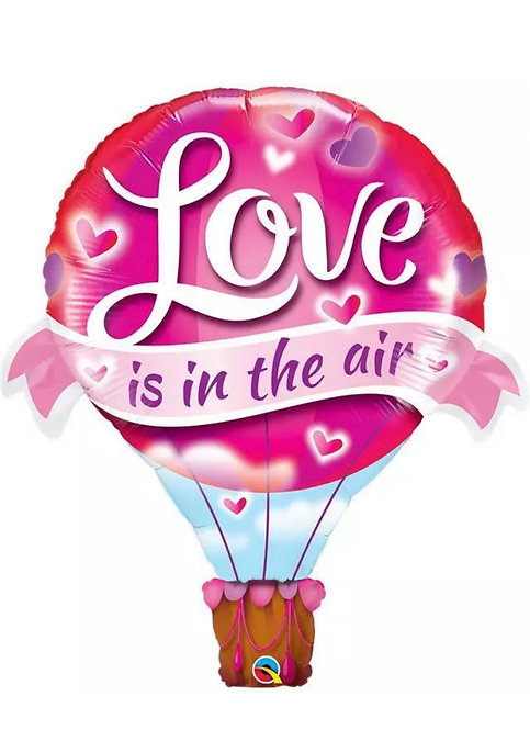 Valentines Supershape Foil Balloon Bouquet - HOT AIR BALLOON