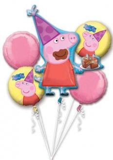 Peppa Pig all foil Balloon Bouquet