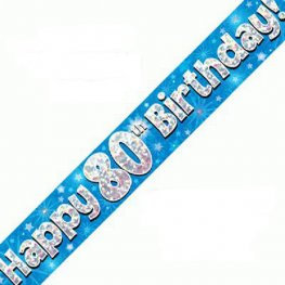 copy of 80th Birthday Banners (Available in pink, blue)