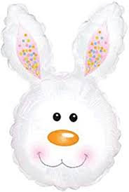 Easter Bunny Head Supershape, personlised with child's name