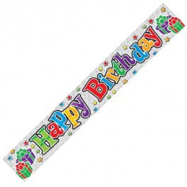 Happy Birthday Banner (Available in pink, blue, multi, rose gold & Black & Gold)
