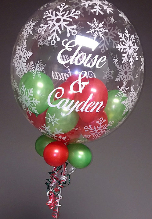 Personalised Bubble Christmas Balloon Display
