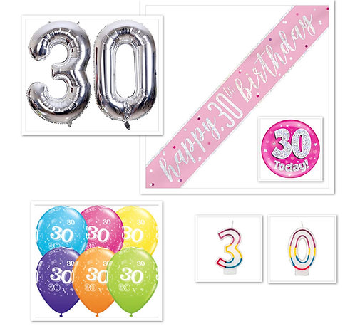DOUBLE DIGITS BIRTHDAY PACKAGE AGE 10-99 (INCLUDES GIANT NUMBERS OR CHARACTER)