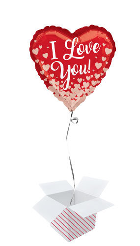 Valentines or Love You Balloon in a Box (LOCAL DELIVERY)