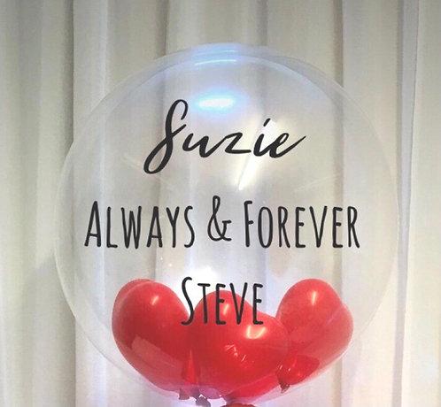 Personalised Valentine Single Bubble Balloon