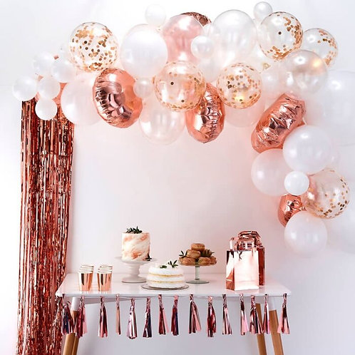 Rose Gold DIY or inflated Balloon Garland/Arch Kit