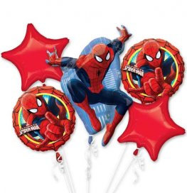 Spiderman all foil Balloon Bouquet