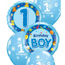 1st Birthday BOY OR GIRL standard Balloon Bouquet