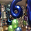 """Thumbnail: 1x GIANT 34"""" NUMBER BALLOON (0-9) with 3 latex balloons under be"""