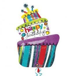 Wonky Cake Supershape Balloon
