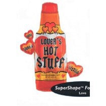 Valentines Supershape Foil Balloon Bouquet - HOT STUFF