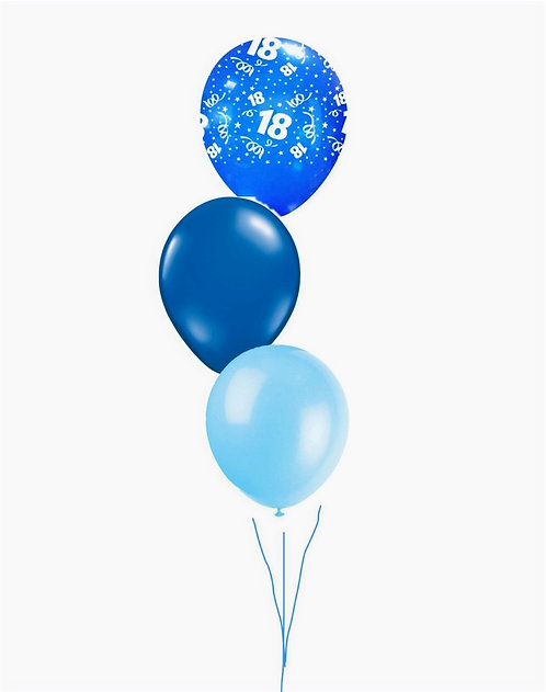 Table Decoration/Floor Cluster of 1 Printed Latex & 2 Plain latex balloons
