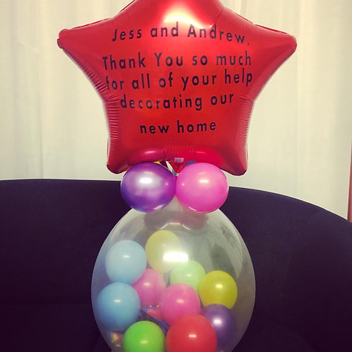 """Sweet Stuffed Balloon - SMALL with 18"""" Foil at Top BUT PERSONLISED"""