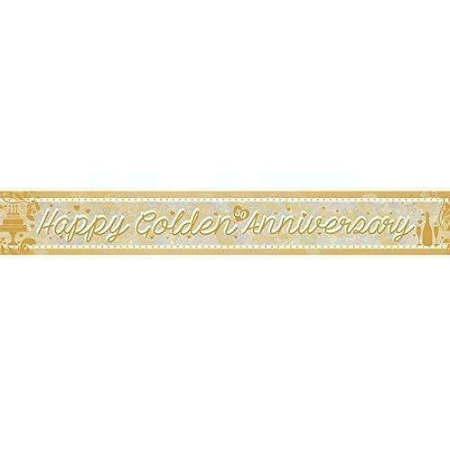 Golden Wedding Anniversary Banner