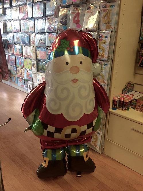 """Whimsical Santa Large Helium Airwalker 37"""" (94cm)"""