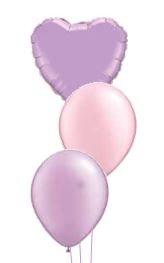 Table Decoration/Floor Cluster of 3 balloons 1 FOIL & 2 PLAIN LATEX