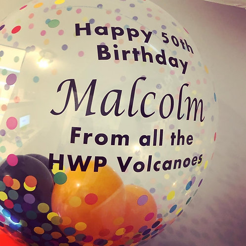 Personalised Bubble Balloon with Balloon Collar
