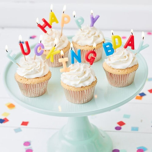 Happy Fucking Birthday Birthday Cake Candle