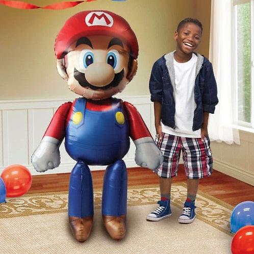 Super Mario Airwalker Foil Helium Balloon 152cm / 60Inch