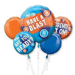 Nerf Party all foil Balloon Bouquet